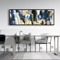 Framed 20 x 60 - Manhattan view of the empire state building