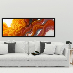 Framed 20 x 60 - Colorful smoke