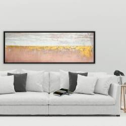 Framed 20 x 60 - Golden pink
