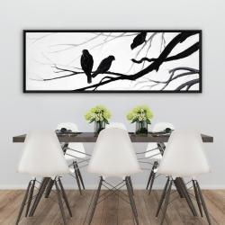 Framed 20 x 60 - Silhouette of birds