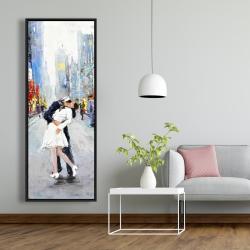 Framed 20 x 60 - Couple kissing on the street