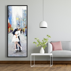 Framed 20 x 60 - Kiss of times square