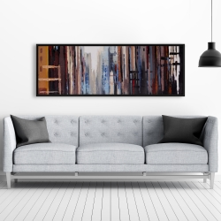 Framed 20 x 60 - Abstract buildings