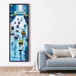 Framed 20 x 60 - Rainy streets of new york