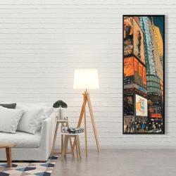 Framed 20 x 60 - Illuminated new york city street