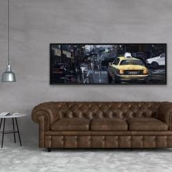 Framed 20 x 60 - New york in the dark