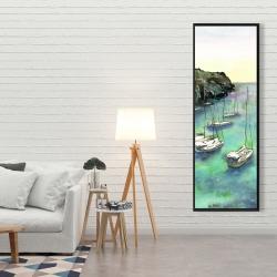 Framed 20 x 60 - Boats in cala macarella
