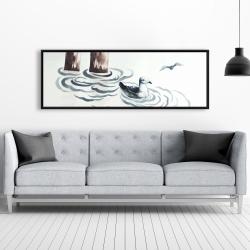 Framed 20 x 60 - Seagull