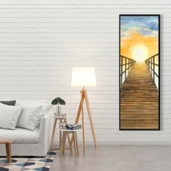 Framed 20 x 60 - Sunset in the sea