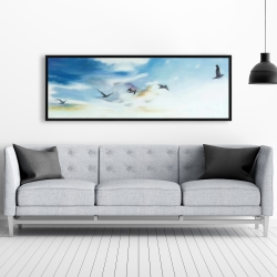 Encadré 20 x 60 - Oiseaux dans le ciel