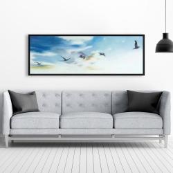 Framed 20 x 60 - Birds in the sky