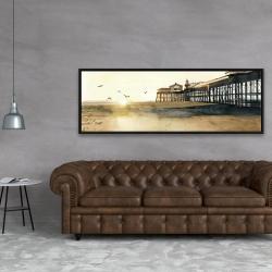 Framed 20 x 60 - Sunset at the beach