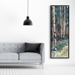 Framed 20 x 60 - Birches