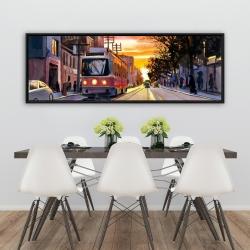 Framed 20 x 60 - Sunset streetscape to toronto