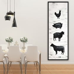 Framed 20 x 60 - Farm animals