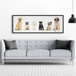 Framed 20 x 60 - Man's best friend