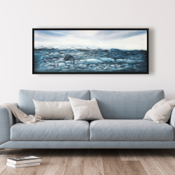 Framed 20 x 60 - Glaciers in iceland