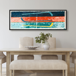 Framed 20 x 60 - Abstract hockey sticks
