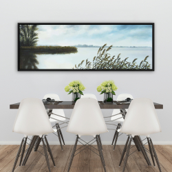Framed 20 x 60 - Quiet lake
