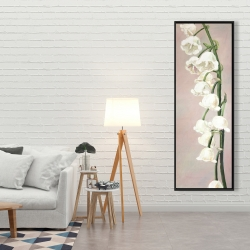 Framed 20 x 60 - Lily of the valley flowers