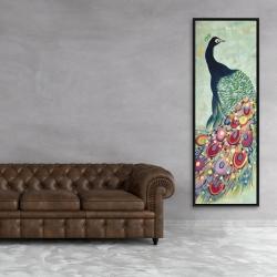 Framed 20 x 60 - Proud as a peacock