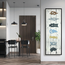 Framed 20 x 60 - Marine knots