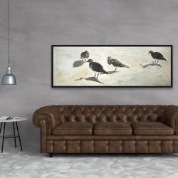 Framed 20 x 60 - Sandpiper birds