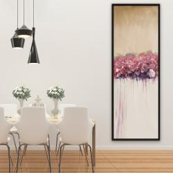Framed 20 x 60 - Vintage flower cluster