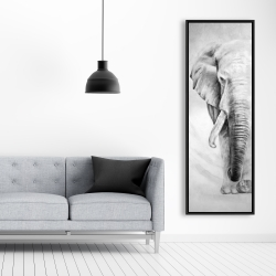 Framed 20 x 60 - Great elephant