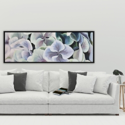 Framed 20 x 60 - Colorful hydrangea flowers