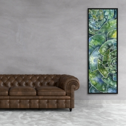 Framed 20 x 60 - Abstract succulents