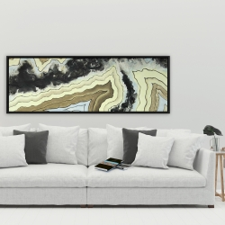 Framed 20 x 60 - Lace agate