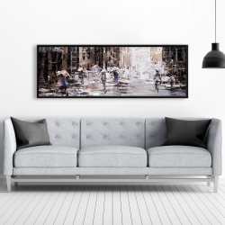 Framed 20 x 60 - Industrial abstract city