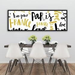 Framed 20 x 60 - Bonjour paris