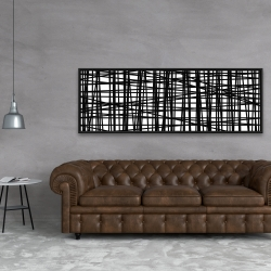 Framed 20 x 60 - Abstract small stripes