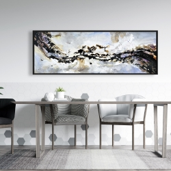 Framed 20 x 60 - Texturized abstract wave
