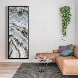 Framed 20 x 60 - Abstract geode