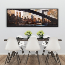 Framed 20 x 60 - Sunset over new york