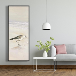 Framed 20 x 60 - Semipalmated sandpiper on the beach
