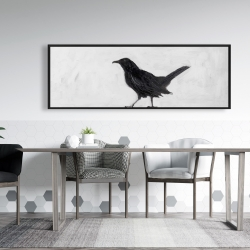 Framed 20 x 60 - Lonely crow