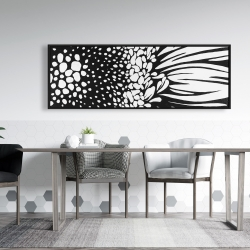 Framed 20 x 60 - Gerbera flower