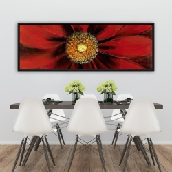 Framed 20 x 60 - Red daisy