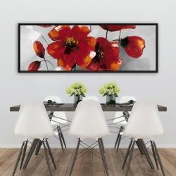 Framed 20 x 60 - Anemone flowers