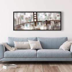 Framed 20 x 60 - Abstract golden gate
