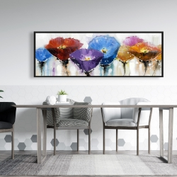 Framed 20 x 60 - Colorful flowers