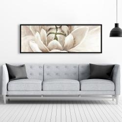 Framed 20 x 60 - Delicate chrysanthemum