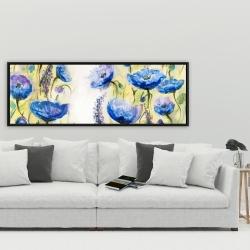 Framed 20 x 60 - Blue garden