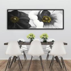 Framed 20 x 60 - Assorted white flowers