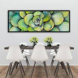 Framed 20 x 60 - Watercolor succulent plant