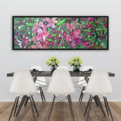 Framed 20 x 60 - Cherry tree blooming